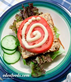 Open Face Tempeh Sandwich with Homemade Mayonnaise