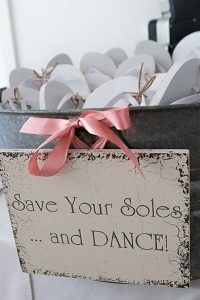 Provide Flip-Flops For Wedding Guests Save your soles and dance