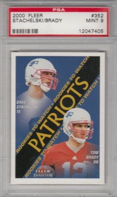 2000 Fleer Patriots Tom Brady RC Rookie RC PSA 9 MINT by Fleer. $49.99. 2000 Fleer Patriots Tom Brady RC Rookie RC PSA 9 MINT