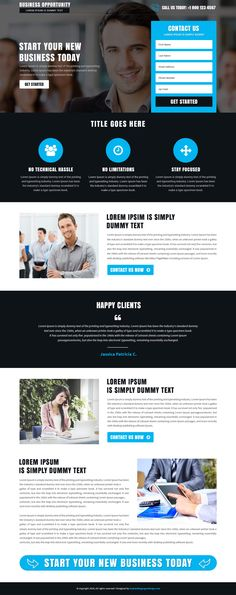 Responsive Business opportunity Landing Page Template $29 only BuyNow!