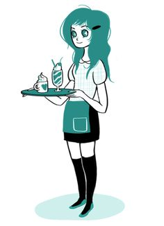 """Natasha Allegri """"cafe girl"""""""