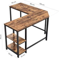 Metal Computer Desk, Metal Desks, Gaming Desk, Corner Computer Desks, Gaming Setup, Home Office Space, Home Office Design, Desk Office, Table D'angle