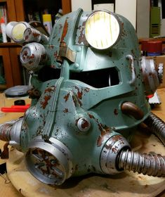 Fallout 3 - T45-d Power Armour Helmet by Mark Tan