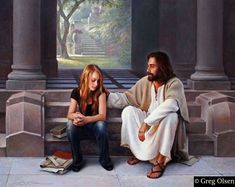 Greg Olsen Paintings, 28 sample paintings of the blessed artist Greg Olsen are here. To purchase portraits and paintings, go to Greg Olsen Store. You can get the original paintings Lds Memes, Lds Quotes, Qoutes, Papa Quotes, Girl Quotes, Greg Olsen Art, Pictures Of Christ, Lds Pictures, Church Pictures