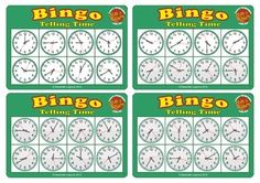 Time Bingo Game is a fun way to teach time expressions! Classic Bingo game for kids and ESL students that helps develop clocks recognition and listening skills. Ages 6 & upIncludes: 5 Bingo Cards  40 Caller Cards InstructionThe game can be played by 2-5 players.