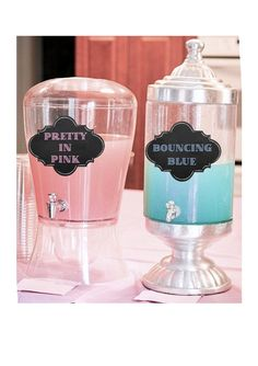 A fun way to present your drinks at a Gender Reveal Party! This is an Instant Download. You can print cut and tape the signs to the drink dispensers! Makes a great conversational Piece! You will receive: 1- PDF file with Drink dispenser signs in approximately 5x7 size for each sign both on a single 8.5x11 paper size. Upon purchase you can find the file in the your purchases section and you can download the file. No shipping is required. *Print at Home. For best results print on a heavy w...
