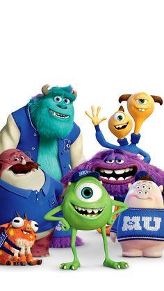 Monsters University wallpaper - My Wallpaper Monsters Inc Characters, Monsters Ink, Disney Monsters, Pixar Characters, Cartoon Monsters, Funny Phone Wallpaper, Wallpaper Iphone Disney, Cute Disney Wallpaper, Cartoon Wallpaper