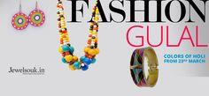 #fashion #glamour #beautiful #jewellery #colours #holi #fun #classy