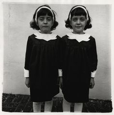 """Diane Arbus, """"Identical Twins, Roselle, New Jersey, 1967"""""""