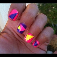 My saved by the bell inspired nails!