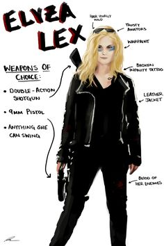 blindwire: Character breakdown of Elyza Lex including my own headcanons and some of the excellent ones I've come across so far.