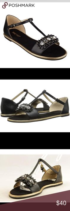 🌼NEW🌼 Nine West Kurtancall Sandals 🌼NEW Nine West Black Leather with gold tone trim Sandals. Size 5.5 $40   🌸 Please ask all your questions before you purchase. I'm happy😊 to help  🌸 Sorry, no trades or hold. 🌸 Please, no lowball offers. 🌸 Please use the Offer Button 🌸 Bundle for your best prices 🌸 Ships next day, if possible 🎀 Thank you for visiting my closet 🎀 Nine West Shoes Sandals