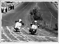 Vespa racing.
