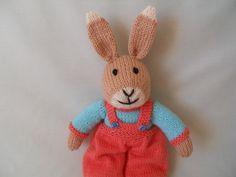 RESERVED  Hand Knitted Rabbit  Benny the Bunny by littledazzler