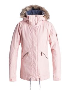 ROXY™ Womens Meade Snow Jacket - Snow jacket for women cut from ROXY DryFlight® waterproofing technology, tailored in a slim fit. Complete with a ROXY WarmFlight® [fill weight of 120 g body, 100 g sleeves, 60 g hood]. Style Snowboard, Snowboarding Outfit, Snowboarding Women, Snow Outfits For Women, Ski Outfits, White Outfits, Roxy Ski Jackets, Jackets For Women, Jet Ski