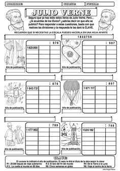 Divisiones por 3 cifras. Tema inventos Reading Time, Math Worksheets, My Teacher, Geography, Destiny, Homeschool, Goblin, Mental Calculation, Teaching Supplies