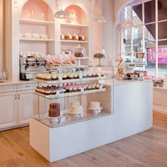 "bakeries.... normally I would have pinned this to my ""mmm FOOD"" board, but this bakery is so my style! I have always dreamed of opening so many places (bakeries, boutiques, salons) and this is what it would look like! I love!"