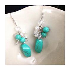 Ocean Blue Earring Drops #blingjewelry