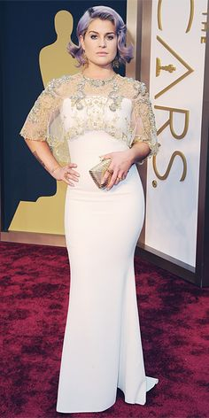 Oscars 2014 Red Carpet Arrivals - Kelly Osbourne from #InStyle Hair move on, dress nice.