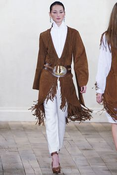 I dont ever wear pants or slacks, but I love the fringed jacket. When I was very young my Mother wore a fringed jacket and I remember thinking that it was  so beautiful.