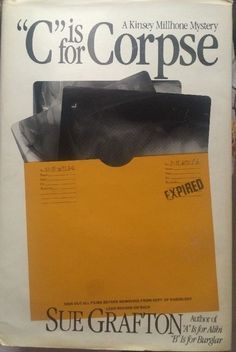 Mystery C Is for Corpse by Sue Grafton HC DJ 1986 | eBay