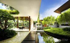 biệt thự đẹp với thiên nhiên xanh bao phủ