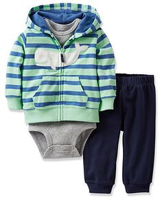 Carter's Baby Boys' 3-Piece Cardigan, Bodysuit & Pants Set, NEED 6 MON SIZE