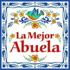 A unique and charming decorative wall tile making a great Abuela gift idea. - HeritageGiftOutlet.com - #tile #abuela #mexican #gift #idea #cute #saying #ceramics #products #love #kitchen