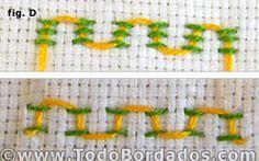 Punto de cruz sencillo y punto de bastilla  Novedades  TodoBordados.com Tu web de bordados y artesanía textil