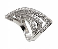 'X.F.' collection: white gold and diamonds