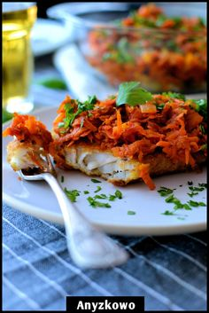 Cod under blanket (in Polish) Ryba po grecku Seafood Dishes, Fish And Seafood, Polish Recipes, Polish Food, Christmas Dishes, Polish Christmas, Food Experiments, Kitchen Confidential, Chilli
