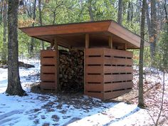 Woodshed at Seth Peterson Cottage, by Frank Lloyd Wright