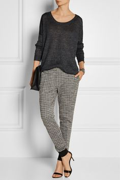 Thakoon Addition | Patterned ponte tapered pants | NET-A-PORTER.COM