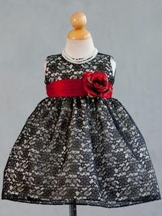 Black Floral Lace Baby Dress