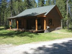 New Two Bedroom Log Cabin Nestled in the Woods of Whitefish!Vacation Rental in Whitefish from @HomeAway! #vacation #rental #travel #homeaway