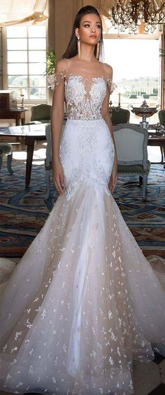 A wedding dress is an important part of any bride's big day. A wedding dress comes in many different styles,modern, and designs made for a variety of wedding themes. And a deep V neck Wedding… Dresses Elegant, Stunning Wedding Dresses, Wedding Dresses 2018, Perfect Wedding Dress, Bridal Dresses, Bridesmaid Dresses, V Neck Wedding Dress, Wedding Attire, Wedding Bride