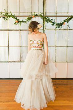 Unique and alluring wedding dress @emmaandgrace13