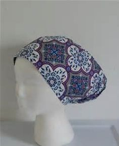 Surgical Scrub Hat Ethnic Pillow Pattern by LaProvidenceBoutique