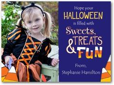 Sweet Halloween - Halloween Cards for Kids - Design Collective - Twilight - Blue : Front