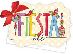 Fiesta Ole Die-Cut Tie-Up Invitation