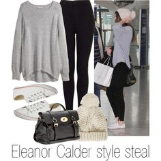 Eleanor Calder styles steal! by dizzyblonde22 on Polyvore featuring H&M, Topshop, Converse, Mulberry and eleanorcalder