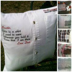 Keepsake Memory Shirt Pillow Cover - Keepsake Pillow, Memory Pillow, Memorial Gift, Pillow Covers, In Remembrance