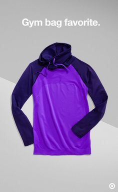 Layer up when the temps drop with a go-to sweater like this C9 Champion top pick. Duo Dry technology wicks moisture and its seamless design reduces any chance of rubbing. The added stretch makes sure it doesn't ride or catch when you move. This one's a keeper.