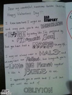 Greatest Valentine I've ever seen!