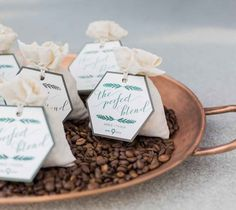 Coffe bean wedding favors - Go Green or Go Home: An Eco-Inspired Cover Shoot | WeddingDay Magazine