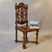 Antique Chair Oak Tall High Back Drawing Room Condition: Very good Origin: English Circa 1880