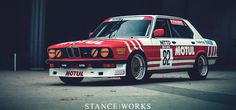 This year, for SEMA, we've reimagined our BMW race car in a classic style Motul Livery to celebrate their history in racing. Bmw E28, Bmw Vintage, New Mods, Bmw Classic, Bmw 5 Series, Car Sketch, Car Wrap, Car Ins, Sport Cars