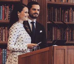 Queen Silvia, Sofia and Carl Philip attended a dyslexia symposium