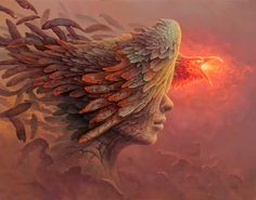 '' S14 '', 2014, Oil on canvas by Tomasz Alen Kopera , Polish painter. Dark Surreal Painting