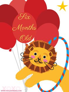 Free Baby Monthly Milestone Signs to Print and use for pictures. Look out for the circus set coming in early october 2015 at philandmama.com! Be sure to Share the love